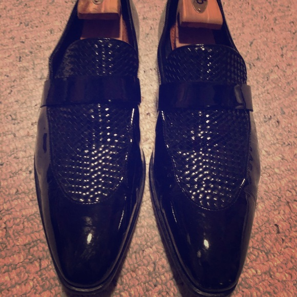 Huge Boss patent formal dress shoes. Really sharp!